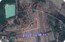 LP62010018-Land for sale in Nong Khai, good location for investment, cheap price 6 rai 2 ngan 98 sq.w.